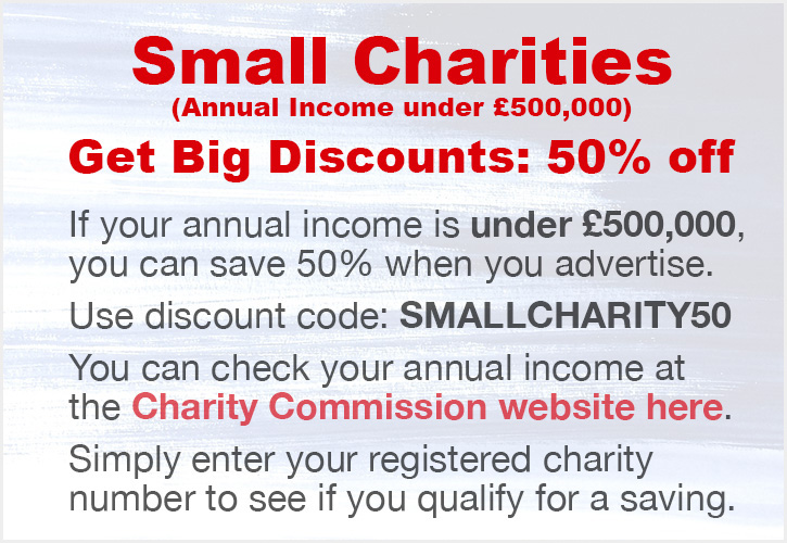 Small Charities. Get Big Discounts: 50% off